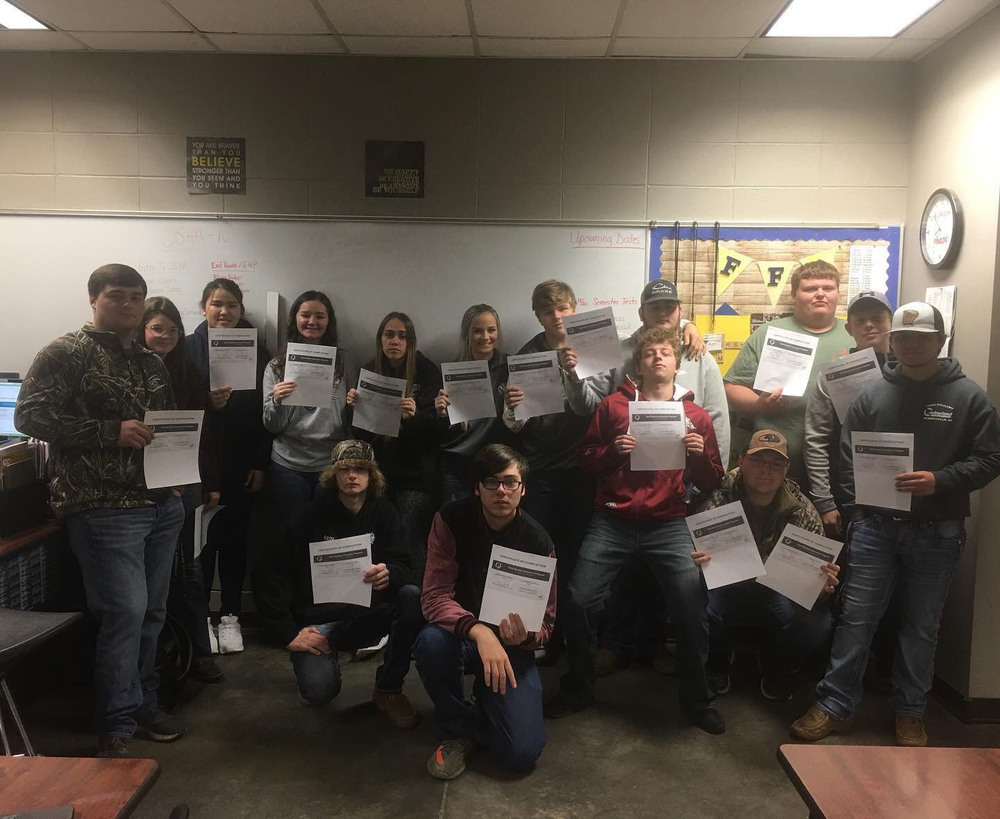 Two Rivers FFA Animal Science students received Beef Quality Assurance (BQA)Certifications