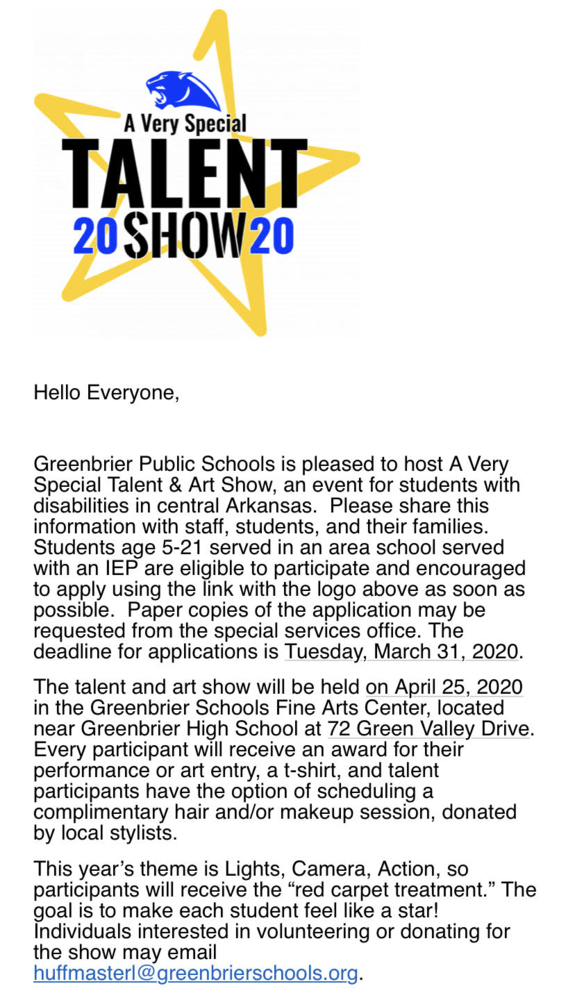 Lights, Camera, Action - A Very Special Talent Show